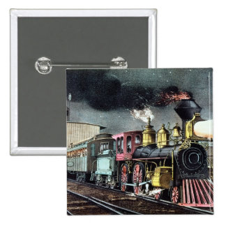 The Night Express: The Start 2 Inch Square Button
