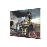 The Night Express: The Start Canvas Print