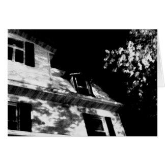 'The Night House' Halloween Card