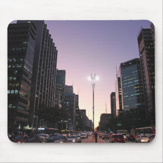 The Night In The Paulista Avenue - Sao Paulo Mouse Pad