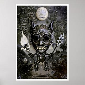 'The Night Marcher' art print - (pop surreal art)