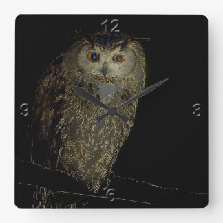 The Night Owl Square Wall Clock