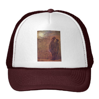 The Night Owls By Daumier Honoré Trucker Hat