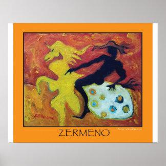 """The Night Rider"" by Zermeno Poster"