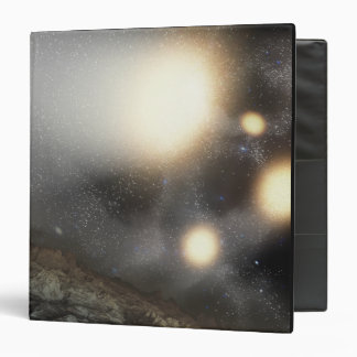 The night sky as seen from a hypothetical plane 3 ring binder