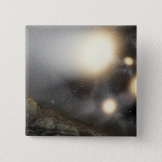 The night sky as seen from a hypothetical plane pinback button