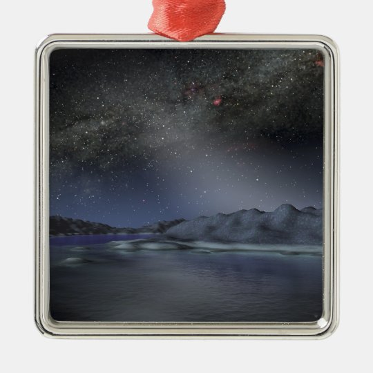 The night sky from a hypothetical alien planet 2 metal ornament