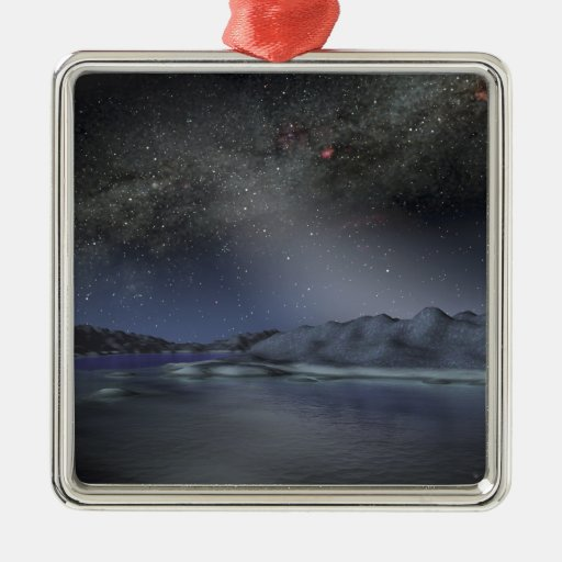 The night sky from a hypothetical alien planet 2 christmas tree ornaments