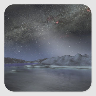The night sky from a hypothetical alien planet 2 square sticker