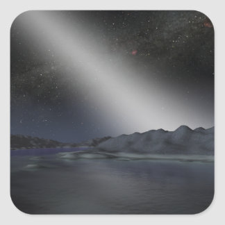 The night sky from a hypothetical alien planet square sticker