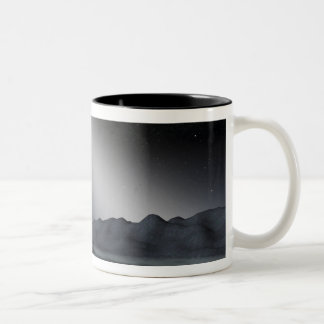 The night sky from a hypothetical alien planet Two-Tone coffee mug