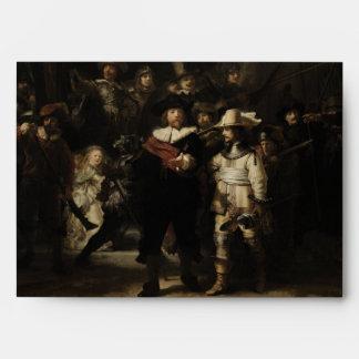 The Night Watch by Rembrandt van Rijn Envelope