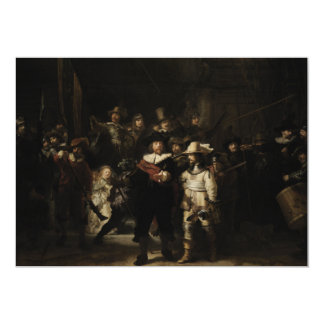 The Night Watch by Rembrandt van Rijn Personalized Announcement