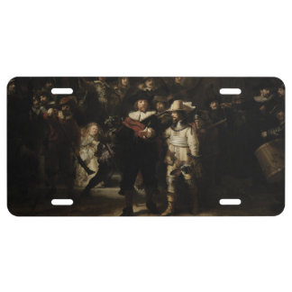 The Night Watch by Rembrandt van Rijn License Plate