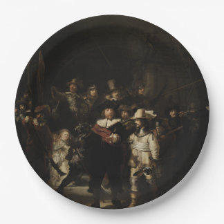 The Night Watch by Rembrandt van Rijn 9 Inch Paper Plate