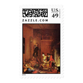 The Night Watch By Zick Januarius (Best Quality) Postage Stamps