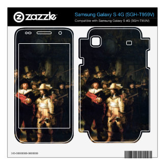 The Night Watch detail by Rembrandt Samsung Galaxy S 4G Decal