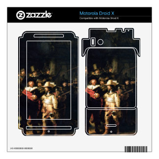 The Night Watch detail by Rembrandt Motorola Droid X Skins