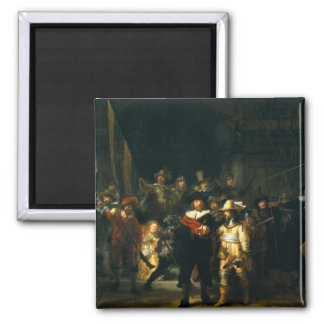 The Night Watch - Rembrandt 2 Inch Square Magnet