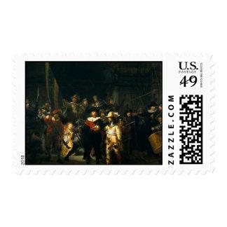 The Night Watch - Rembrandt Stamp