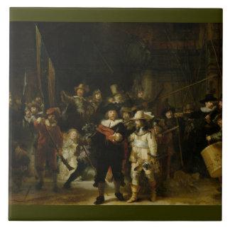 The Night Watch, Rembrandt van Rijn Large Square Tile