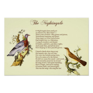 """The Nightingale"" by Wordsworth - Art Print"