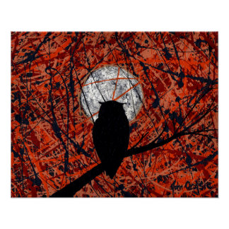 THE NIGHTLY VIGIL (owl design) ~ Posters