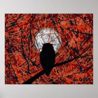 THE NIGHTLY VIGIL (owl design) ~ Poster