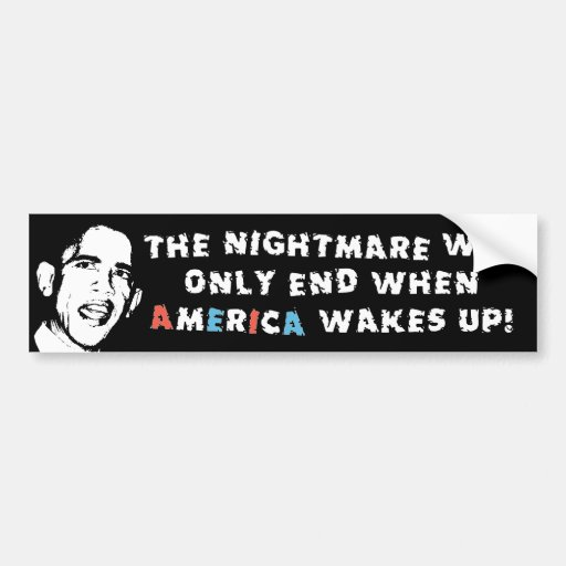 The Nightmare Doesn't End Car Bumper Sticker