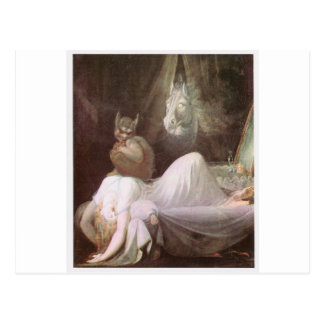 The Nightmare: Henry Fuseli; 18th c. Postcard