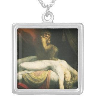 The Nightmare, Henry Fuseli Square Pendant Necklace