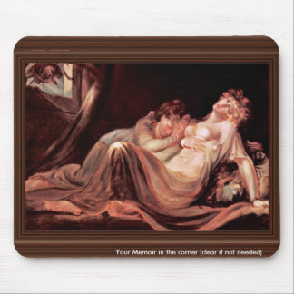 The Nightmare Left The Camp Two Sleeping Girls, By Mouse Pad