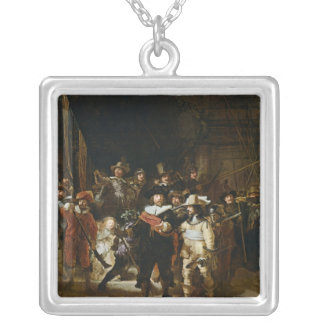 The Nightwatch Square Pendant Necklace