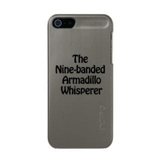 the nine banded armadillo whisperer metallic iPhone SE/5/5s case