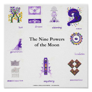 The Nine Powers of the Moon Poster