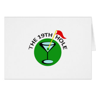 THE NINETEENTH HOLE GREETING CARD
