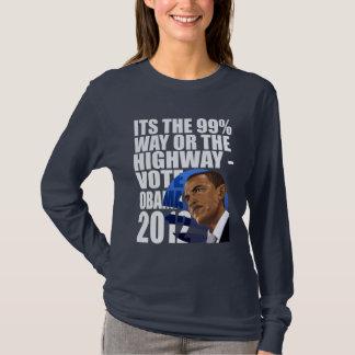 The Ninety Nine Percent Way Obama 2012 T-Shirt