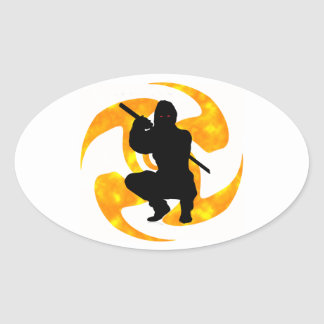 THE NINJAS MOMENT OVAL STICKERS
