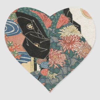 The Ninth Month, Chôyô by Keisai Eisen Heart Sticker