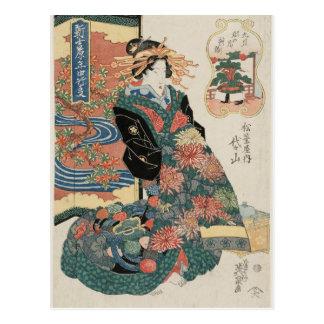 The Ninth Month, Chôyô by Keisai Eisen Postcard