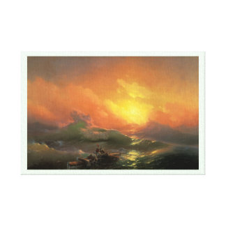 The ninth wave Ivan Aivasovsky seascape waterscape Canvas Print