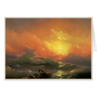 The ninth wave Ivan Aivasovsky seascape waterscape Card