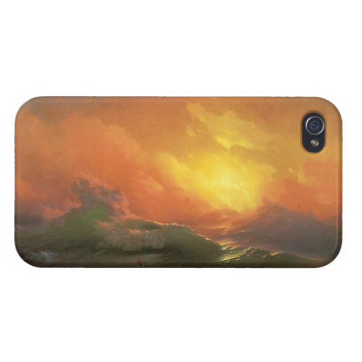 The ninth wave Ivan Aivasovsky seascape waterscape iPhone 4 Covers