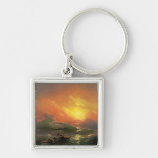 The ninth wave Ivan Aivasovsky seascape waterscape Keychain