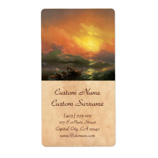 The ninth wave Ivan Aivasovsky seascape waterscape Shipping Label