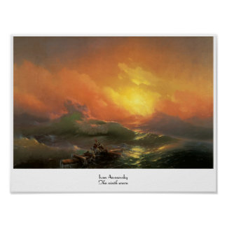 The ninth wave Ivan Aivasovsky seascape waterscape Poster
