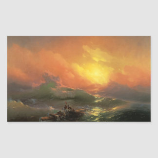 The ninth wave Ivan Aivasovsky seascape waterscape Rectangular Sticker