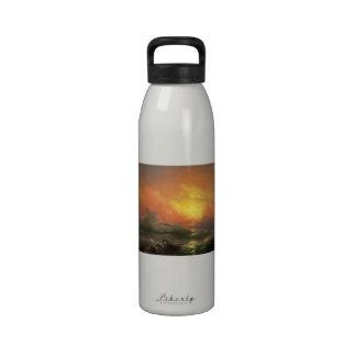 The ninth wave Ivan Aivasovsky seascape waterscape Water Bottles