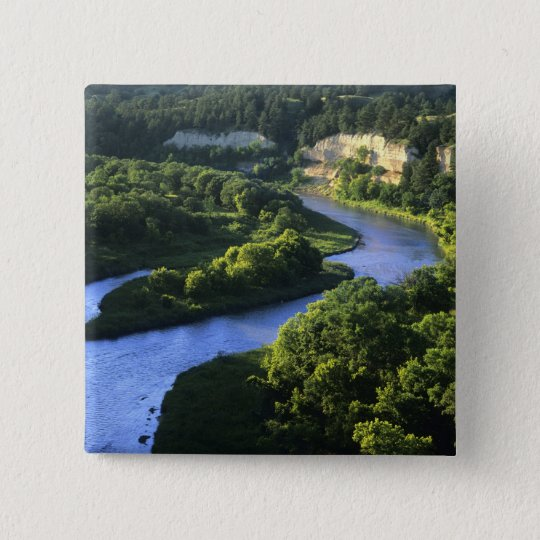 The Niobrara River near Valentine Nebraska Button