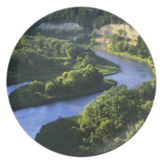 The Niobrara River near Valentine Nebraska Party Plate